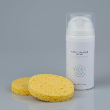 Medic Cleansing Lotion & Cellulose Sponges